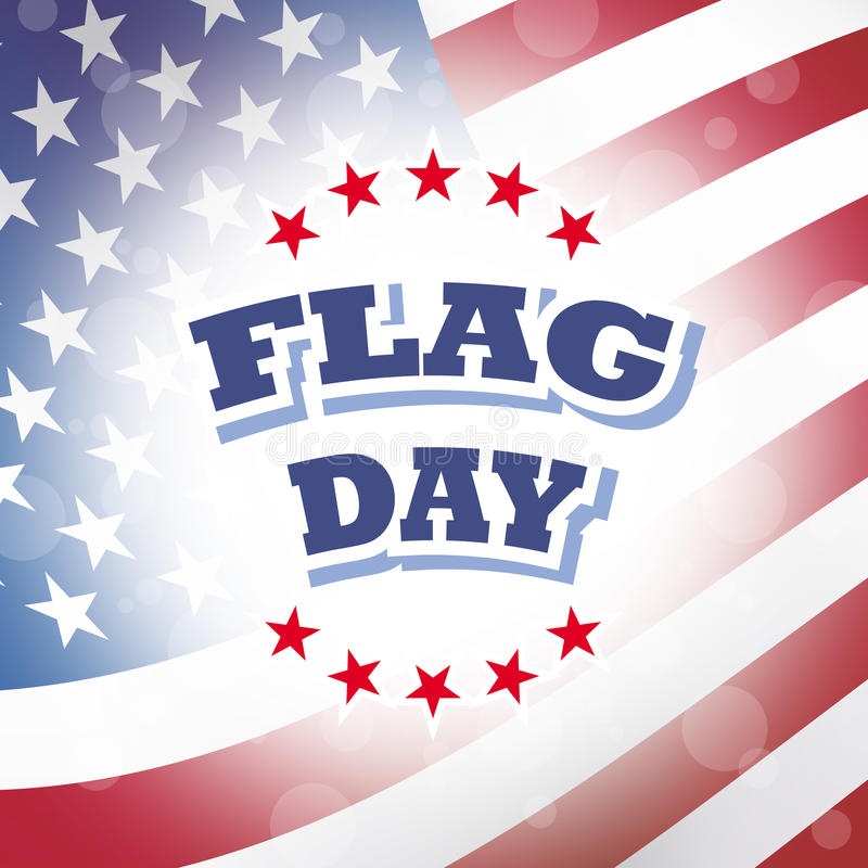 Chorągwianego dnia flaga amerykańskiej tło royalty ilustracja