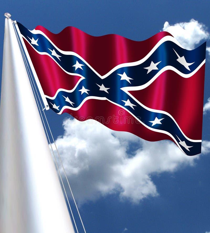 Chorągwiani Konfederacyjni stany Ameryka ilustracja wektor