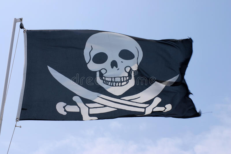 chorągwiani piraci obraz stock