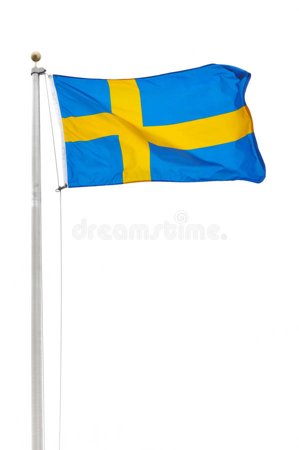chorągwiani szwedzi zdjęcie royalty free