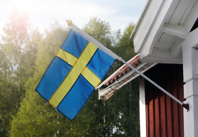 chorągwiani szwedzi fotografia stock
