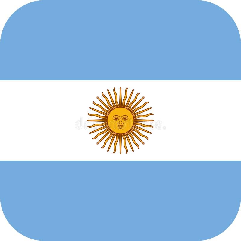 chorągwiany Argentina ilustracyjny wektor eps ilustracja wektor