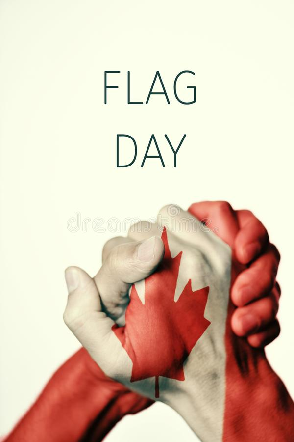 Chorągwiany dzień Kanada zdjęcia stock