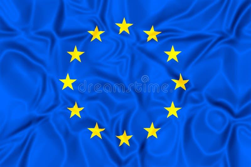 chorągwiany Europejczyka zjednoczenie ilustracji