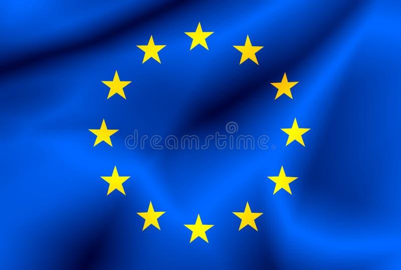 chorągwiany Europejczyka zjednoczenie ilustracja wektor