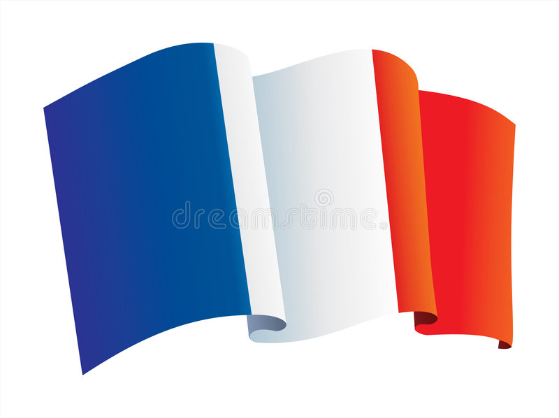 chorągwiany France royalty ilustracja