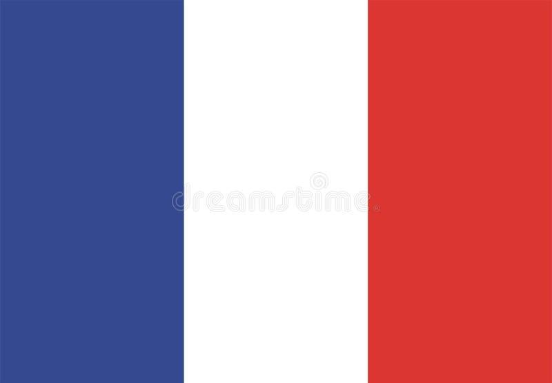 chorągwiany France ilustracji