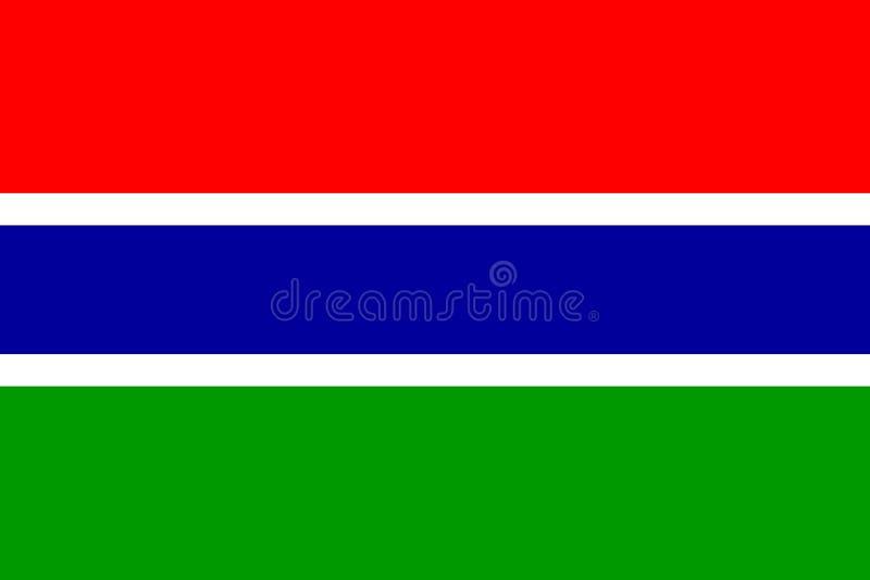 chorągwiany Gambia royalty ilustracja