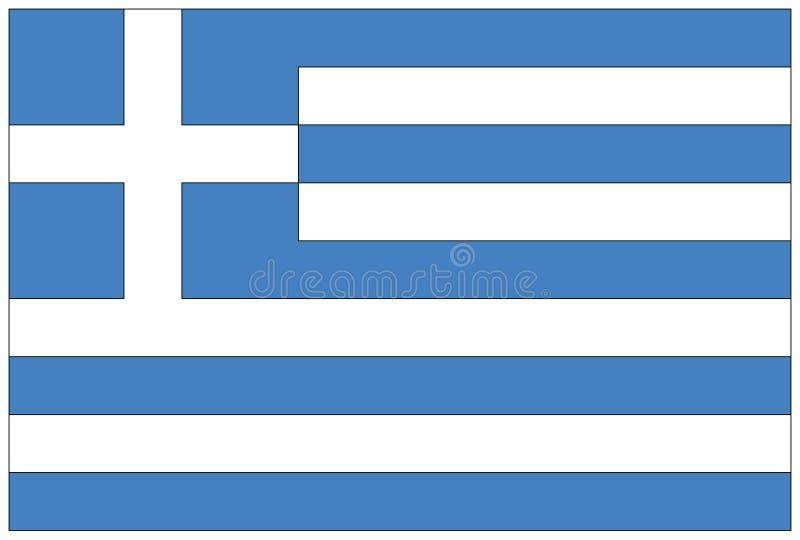 chorągwiany Greece ilustracji