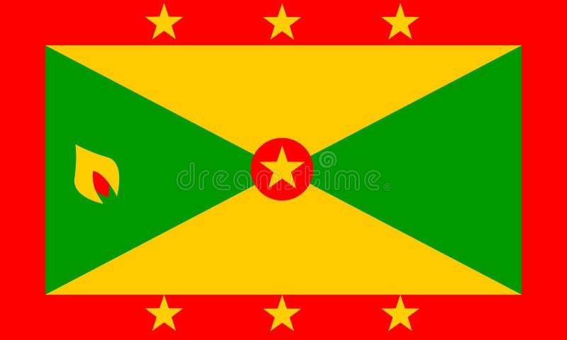chorągwiany Grenada ilustracji
