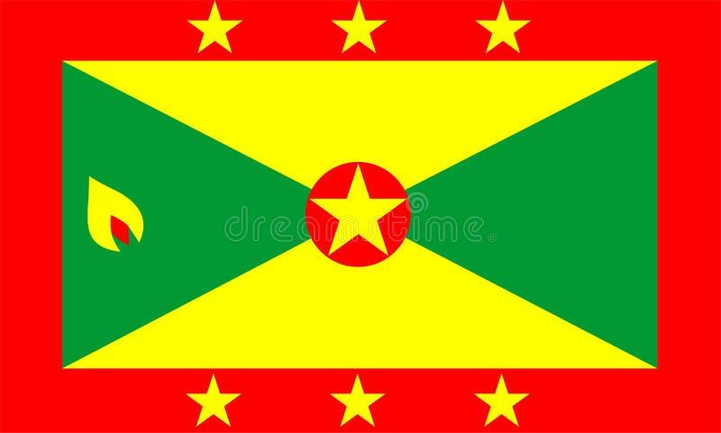 chorągwiany Grenada royalty ilustracja