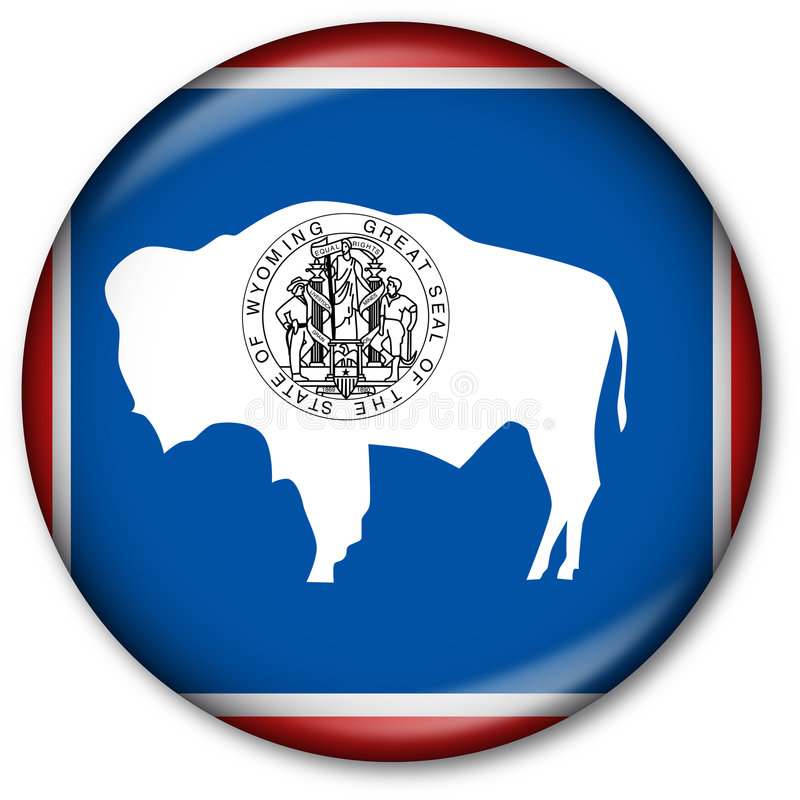 chorągwiany guzika stan Wyoming obrazy royalty free