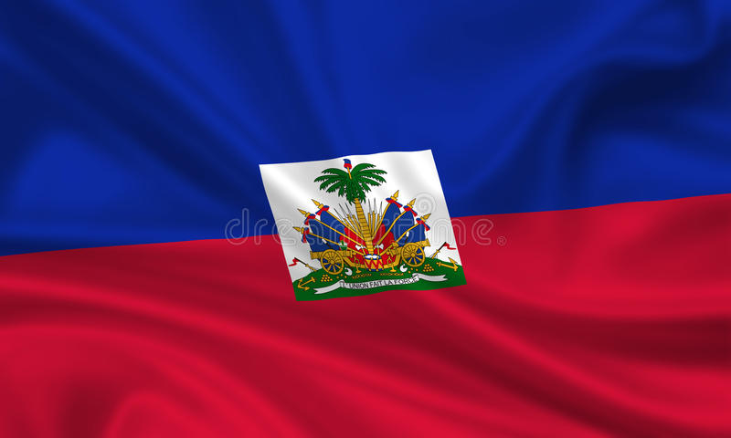 chorągwiany Haiti ilustracja wektor