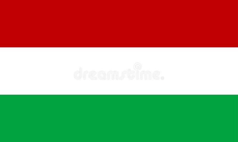 chorągwiany Hungary royalty ilustracja
