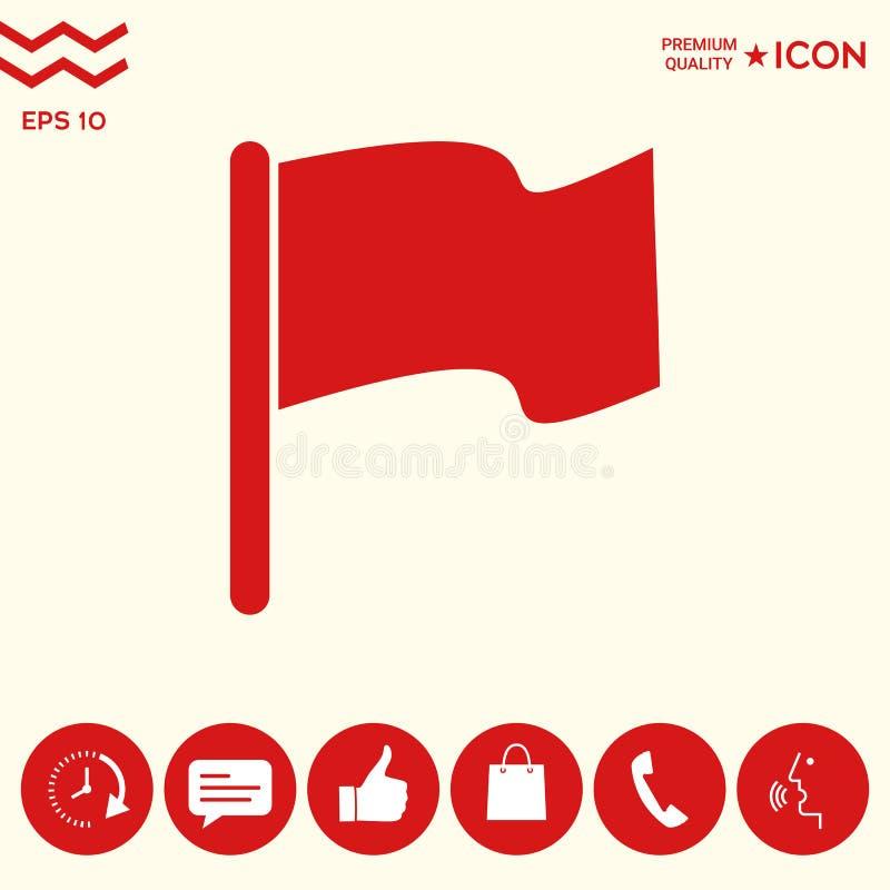 Chorągwiany ikona symbol royalty ilustracja