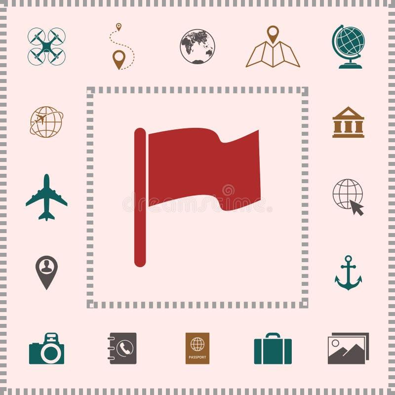 Chorągwiany ikona symbol ilustracji