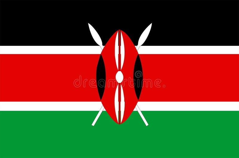 chorągwiany Kenya royalty ilustracja