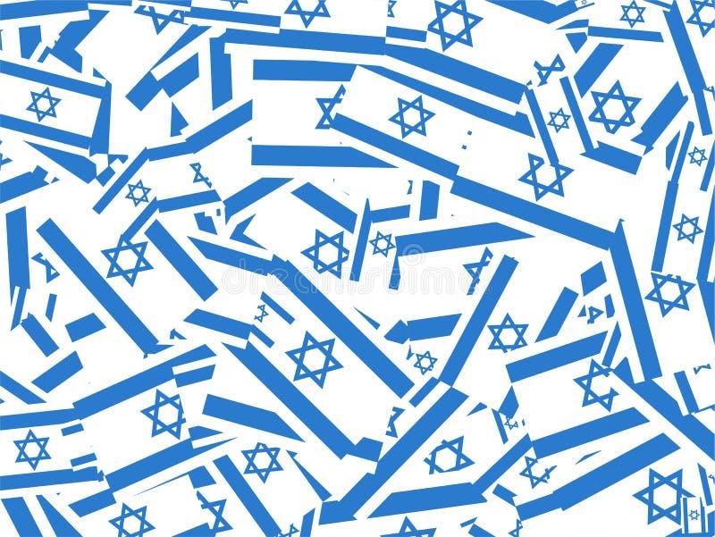 chorągwiany kolażu izraelita royalty ilustracja