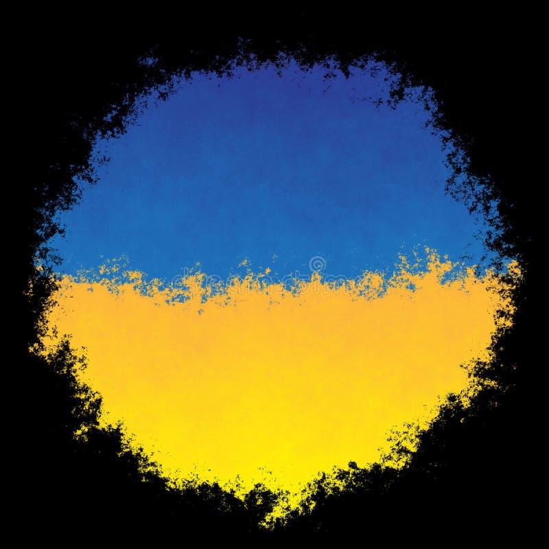 chorągwiany krajowy Ukraine zdjęcia royalty free