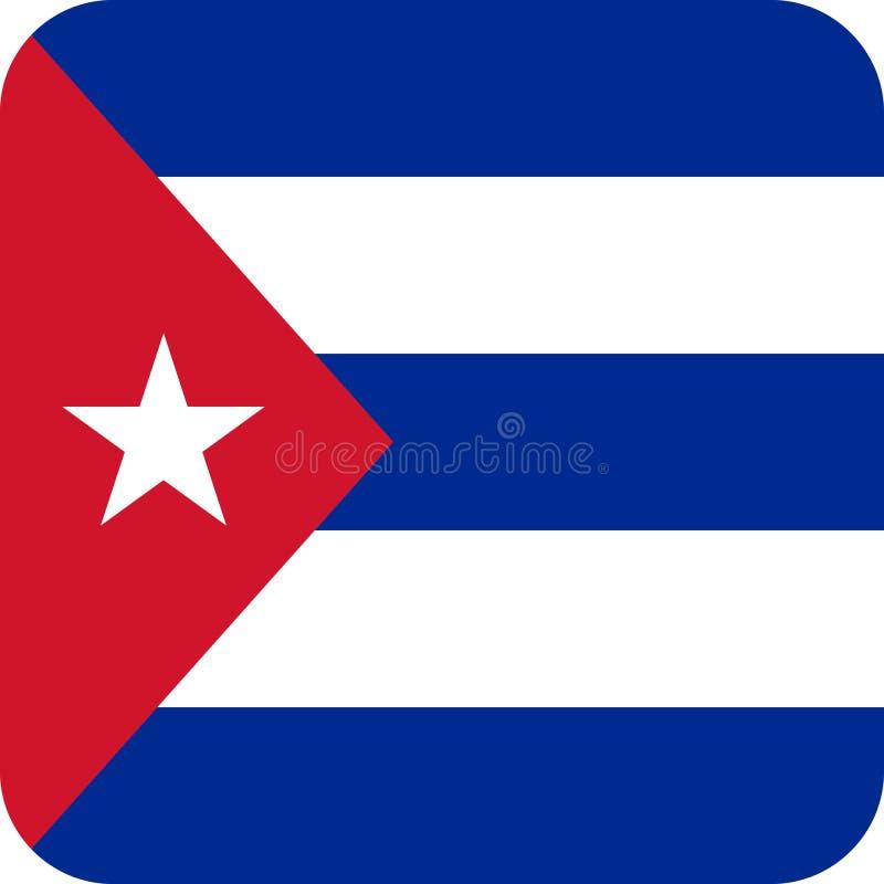 Chorągwiany Kuba ilustracyjny wektor eps royalty ilustracja