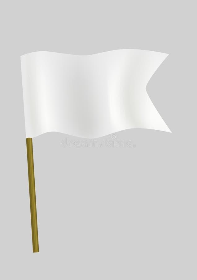 chorągwiany mały biel royalty ilustracja
