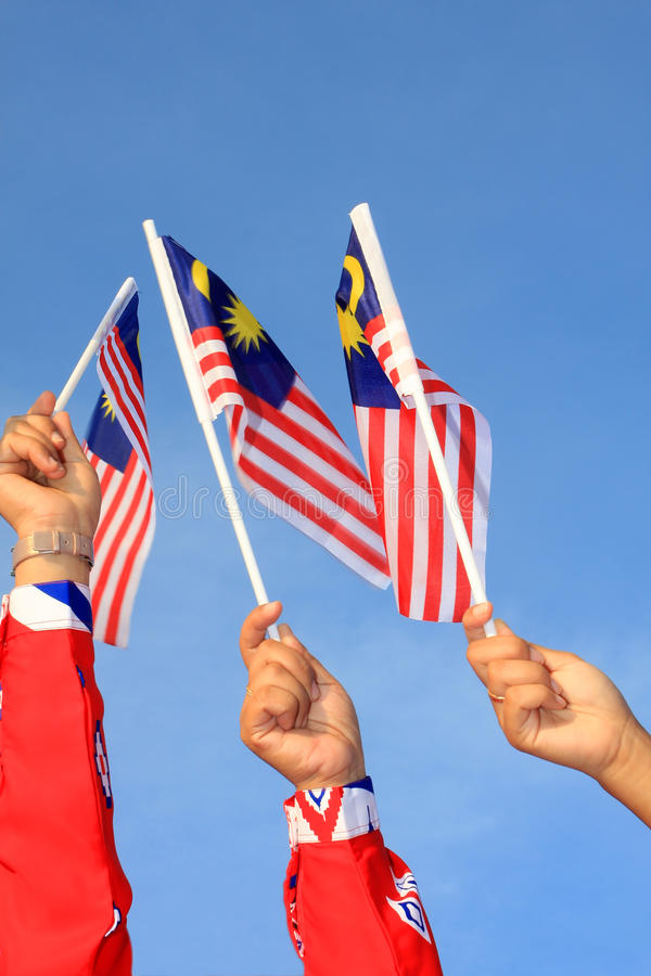 chorągwiany Malaysia trzy obraz royalty free