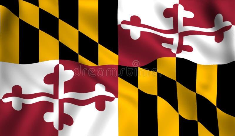 Chorągwiany Maryland stanu stanu usa symbol ilustracja wektor