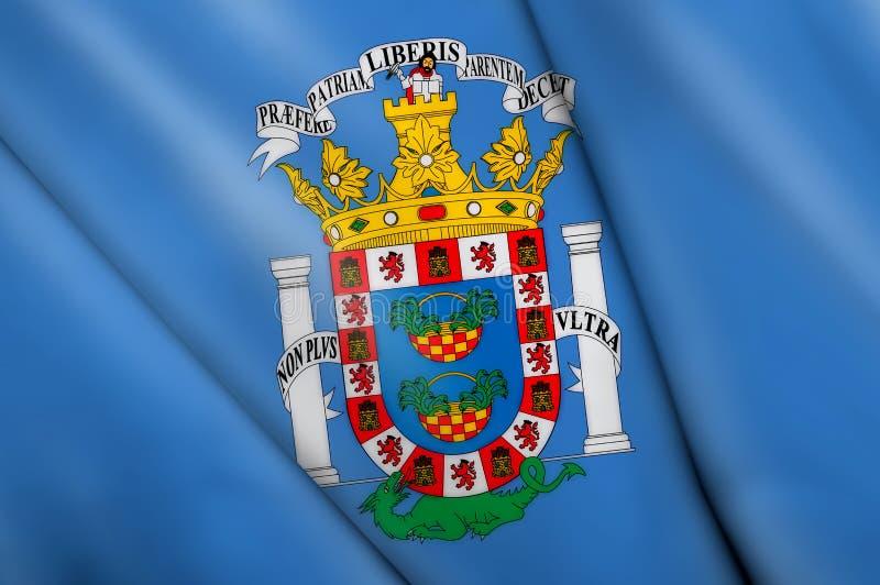 chorągwiany Melilla wałkowy Spain ilustracji