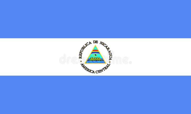 chorągwiany Nicaragua ilustracji