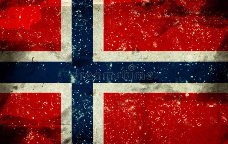 chorągwiany Norway royalty ilustracja