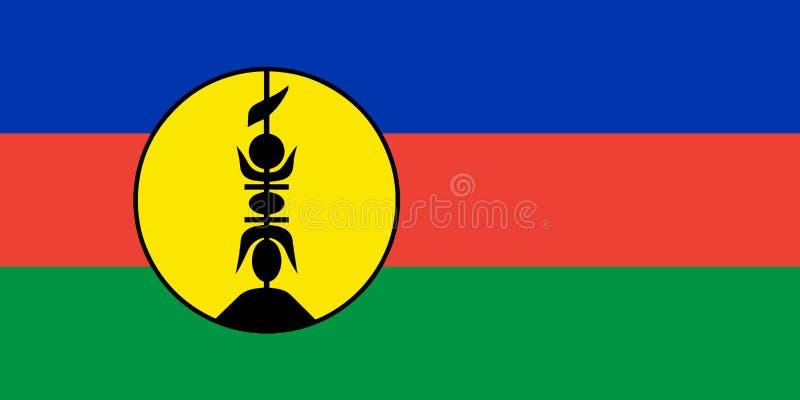 Chorągwiany Nowy Caledonia w oficjalnym tempie, wektor ilustracja wektor