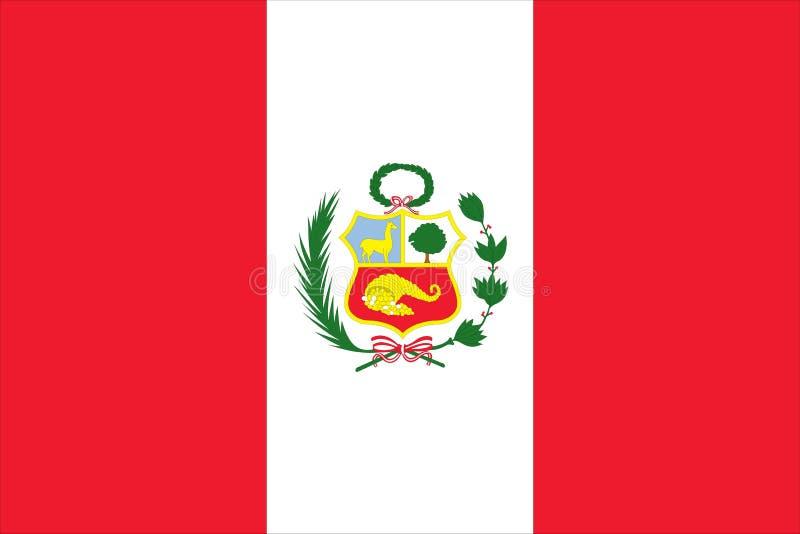 chorągwiany Peru ilustracji