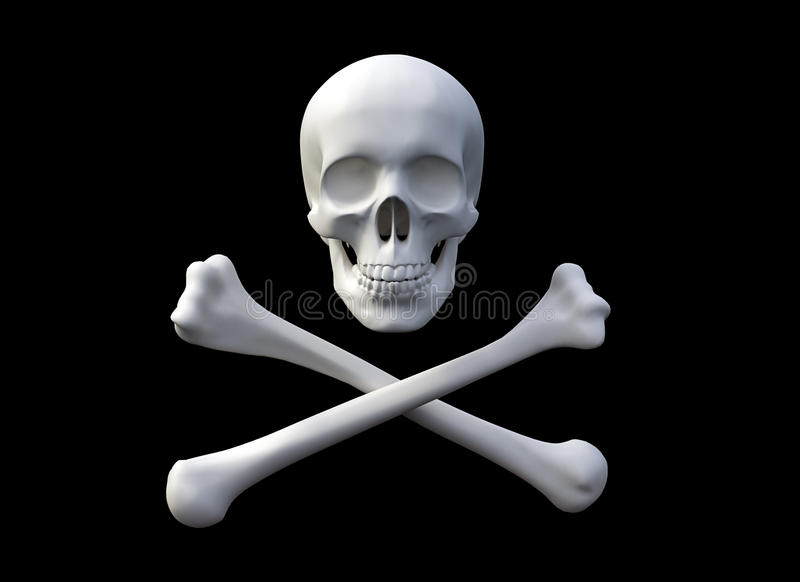 chorągwiany pirat ilustracja wektor