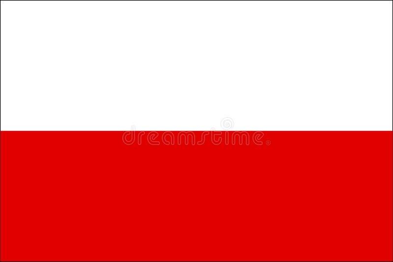 chorągwiany Poland royalty ilustracja