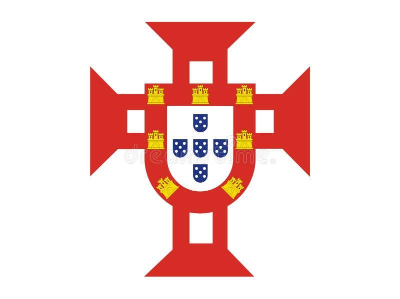 chorągwiany Portugal morze royalty ilustracja