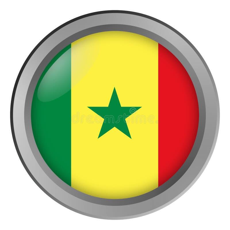 Chorągwiany Senegal round jako guzik ilustracja wektor