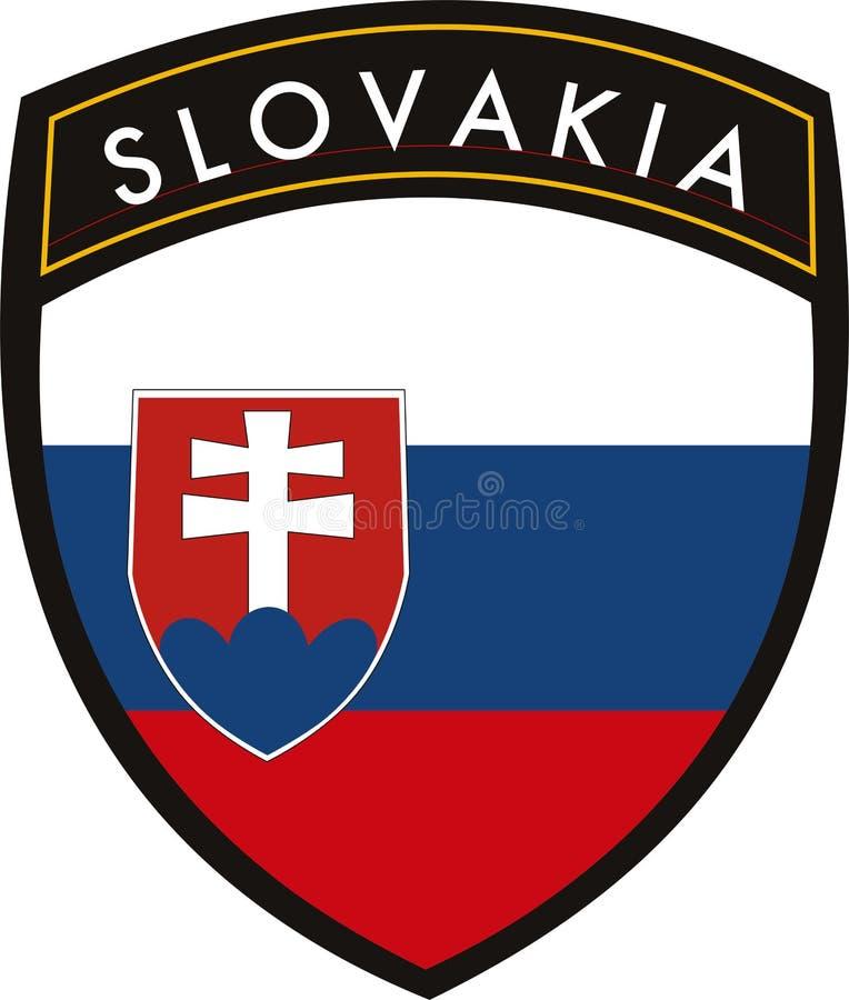 chorągwiany Slovakia royalty ilustracja