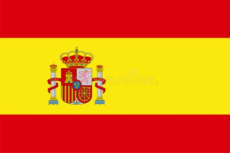 chorągwiany Spain ilustracja wektor