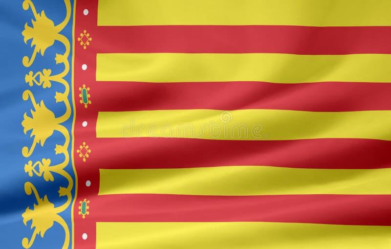 chorągwiany Spain Valencia ilustracji