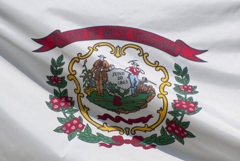 chorągwiany stan Virginia zachodni zdjęcia stock