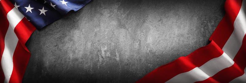 Chorągwiany Stany Zjednoczone Ameryka dla dnia pamięci lub 4th Lipiec zdjęcia stock