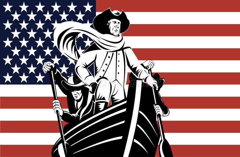 chorągwiany ster Washington ilustracji