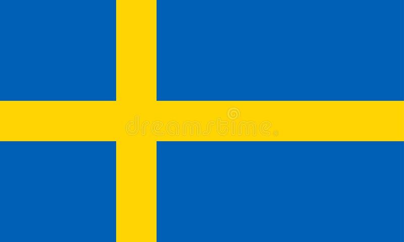 chorągwiany Sweden ilustracja wektor