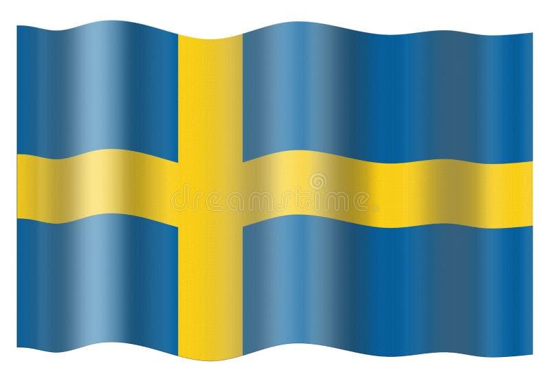 chorągwiany Sweden ilustracji