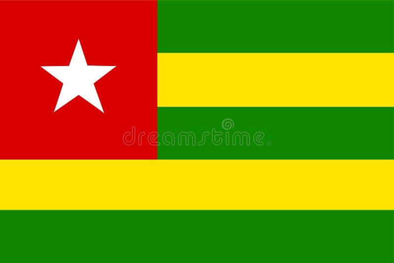 chorągwiany Togo ilustracja wektor