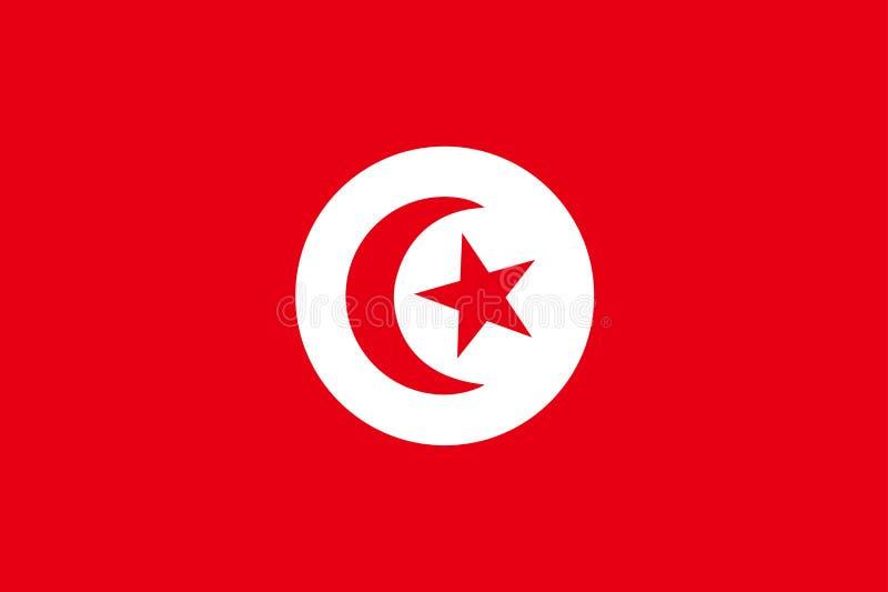chorągwiany Tunisia ilustracji