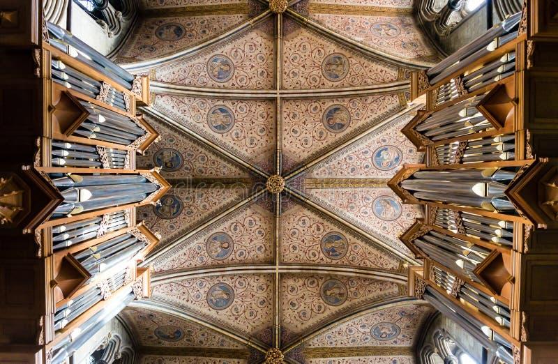 Chor-Decke in Worcester-Kathedrale lizenzfreie stockbilder