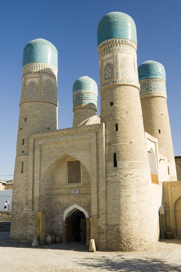 Chor geringes madrasah in Bukhara stockfotos