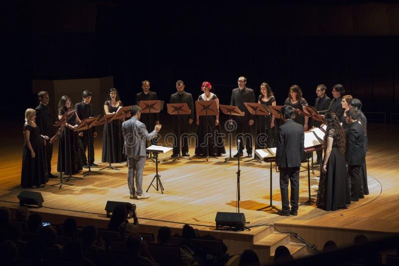 Chor gruppieren in Buenos Aires stockbilder