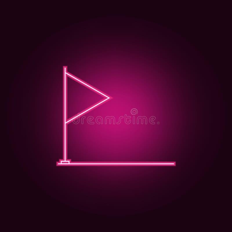 Chor?gwiana neonowa ikona Elementy medalu set Prosta ikona dla stron internetowych, sie? projekt, mobilny app, ewidencyjne grafik ilustracji